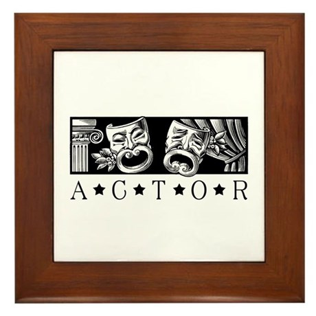 Classical Actor Framed Tile