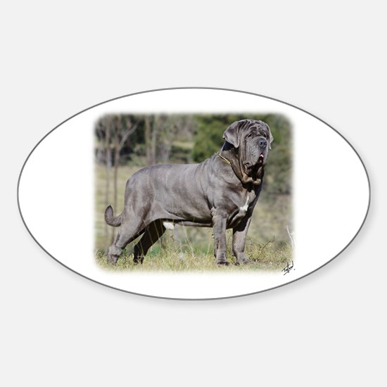 Neapolitan Mastiff AA021D-045 Sticker (Oval)