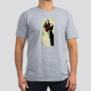 Fritz Lang's M Men's Fitted T-Shirt (dark)