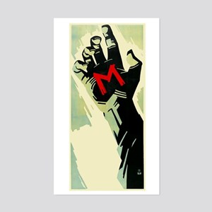 Fritz Lang's M Sticker (Rectangle)