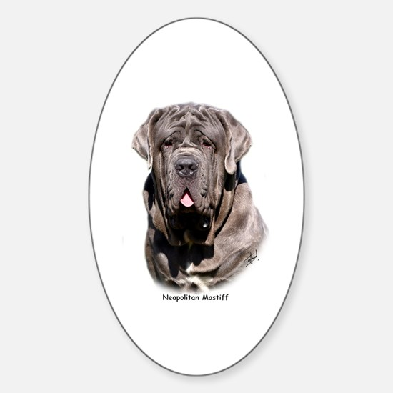 Neapolitan Mastiff 9Y393D-053 Sticker (Oval)