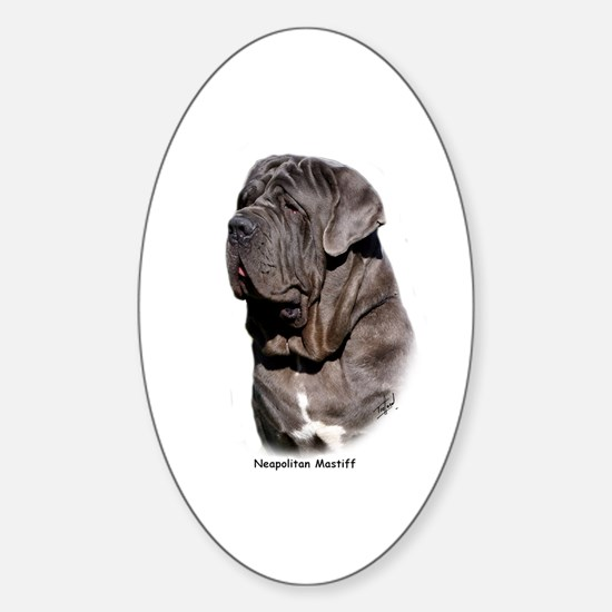 Neapolitan Mastiff 9Y393D-061 Sticker (Oval)