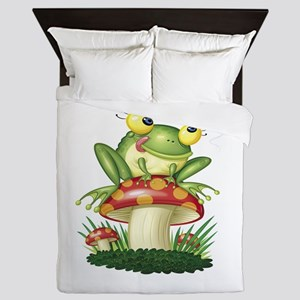 Frog & Toad Stool Queen Duvet