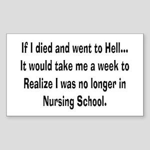 Funny Nursing Student Sticker (Rectangle)