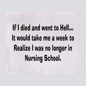 Funny Nursing Student Throw Blanket