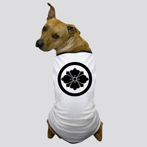 Rhombic chinese flower with swords in Dog T-Shirt
