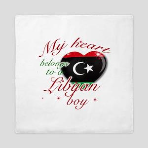 My heart belongs to a Libyan boy Queen Duvet