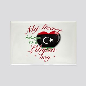 My heart belongs to a Libyan boy Rectangle Magnet