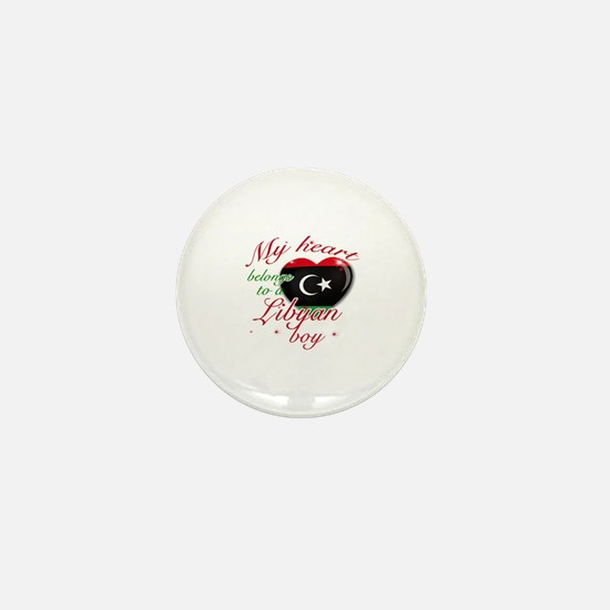 My heart belongs to a Libyan boy Mini Button