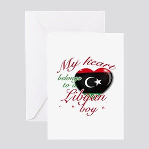 My heart belongs to a Libyan boy Greeting Card
