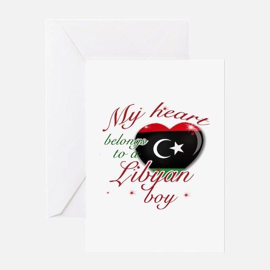 My heart belongs to a Libyan boy Greeting Card