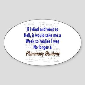 Pharmacist Humor Sticker (Oval)
