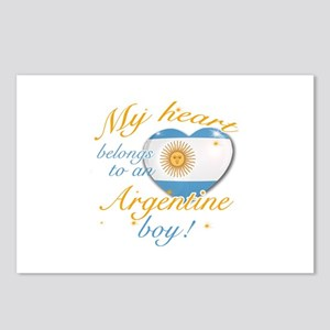 My heart belongs to an Argentine boy Postcards (Pa