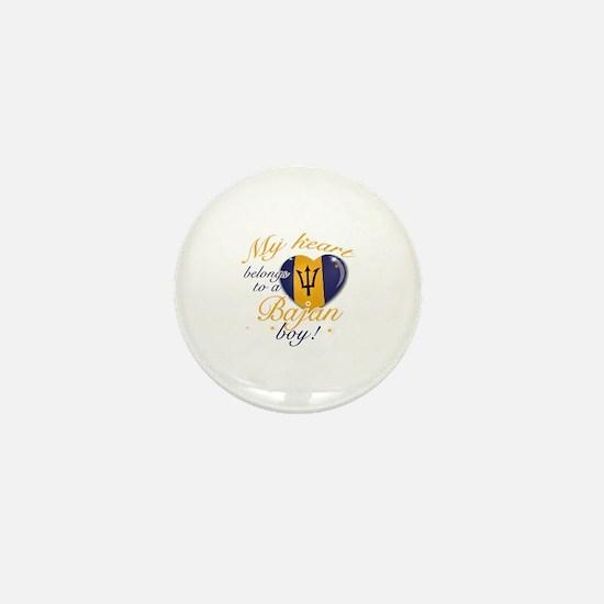 My heart belongs to a Bajan boy Mini Button
