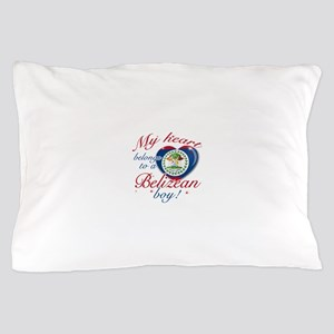 My heart belongs to a Belizean boy Pillow Case