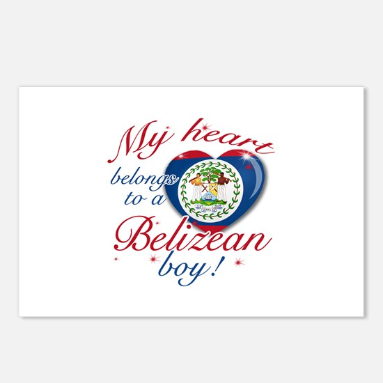 My heart belongs to a Belizean boy Postcards (Pack