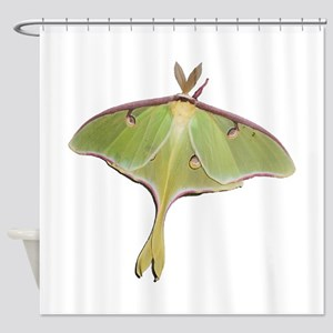 Super Green Moth Shower Curtain