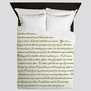 Mr. Darcy Loves You - Queen Duvet