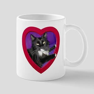 Cat in Heart Mug