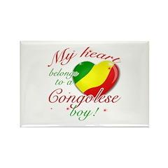 My heart belongs to a Congolese boy Rectangle Magn