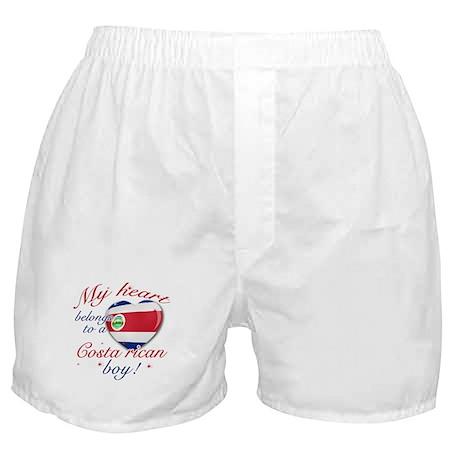 My heart belongs to a Costa Rican boy Boxer Shorts