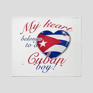 My heart belongs to a Cuban boy Throw Blanket