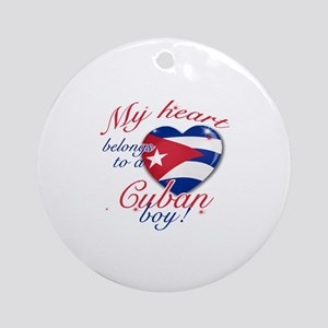 My heart belongs to a Cuban boy Ornament (Round)