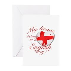 My heart belongs to an English boy Greeting Cards