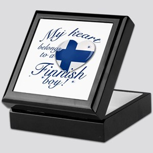 My heart belongs to a Finnish boy Keepsake Box