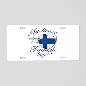 My heart belongs to a Finnish boy Aluminum License
