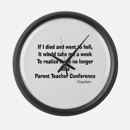 Teachers Large Wall Clock
