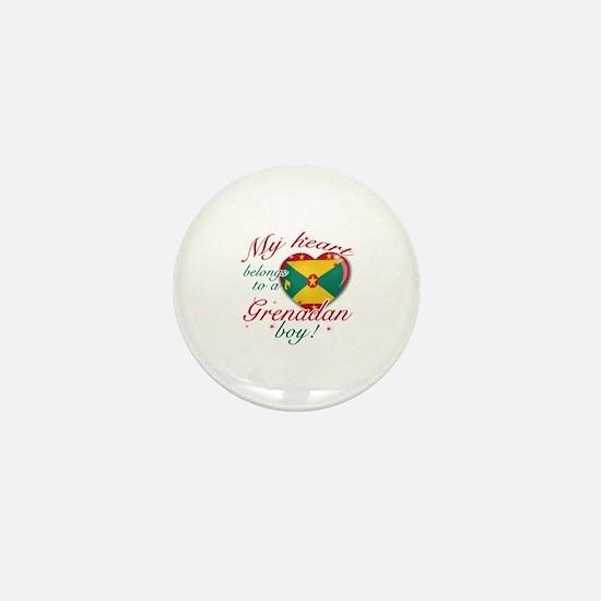 My heart belongs to a Grenadan boy Mini Button