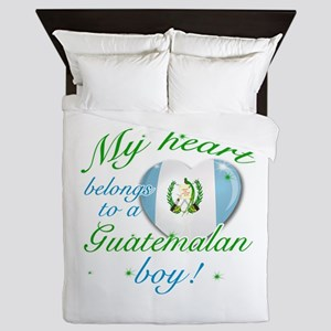 My heart belongs to a Guatemalan boy Queen Duvet