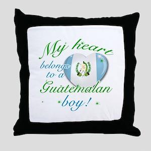 My heart belongs to a Guatemalan boy Throw Pillow