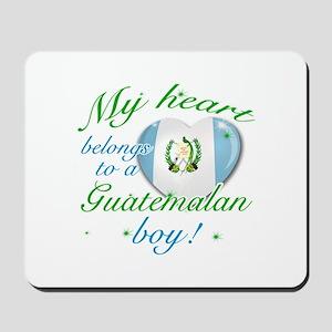 My heart belongs to a Guatemalan boy Mousepad