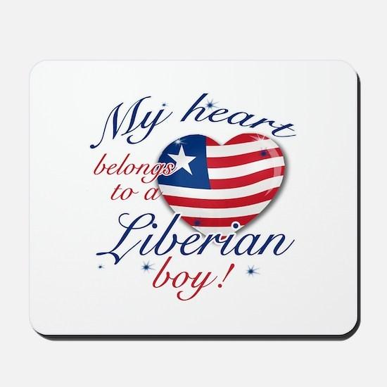 My heart belongs to a Liberian boy Mousepad