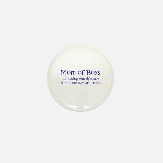 Mom of Boys Mini Button