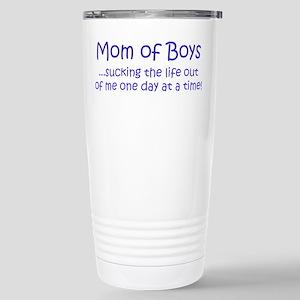 Mom of Boys Stainless Steel Travel Mug