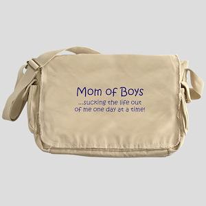 Mom of Boys Messenger Bag