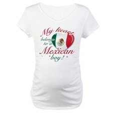 My heart belongs to a Mexican boy Maternity T-Shir