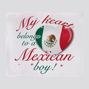 My heart belongs to a Mexican boy Throw Blanket