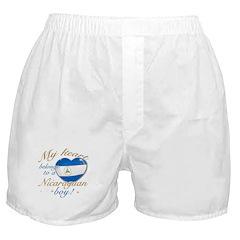 My heart belongs to a Nicaraguan boy Boxer Shorts
