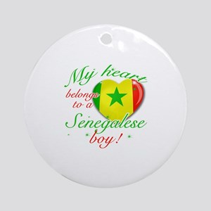 My heart belongs to a Senegalese boy Ornament (Rou