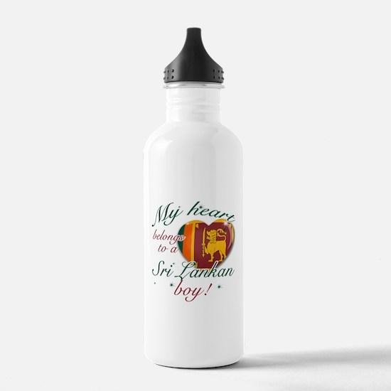 My heart belongs to a Sri Lankan boy Water Bottle