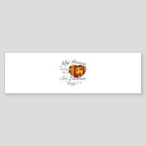 My heart belongs to a Sri Lankan boy Sticker (Bump