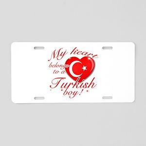 My heart belongs to a Turkish boy Aluminum License