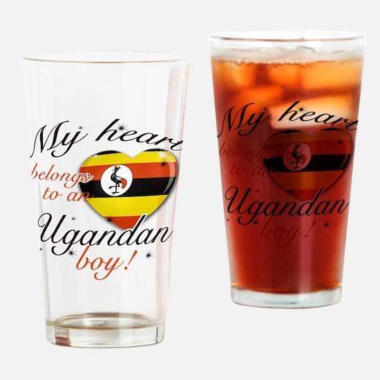 My heart belongs to an Ugandan boy Drinking Glass