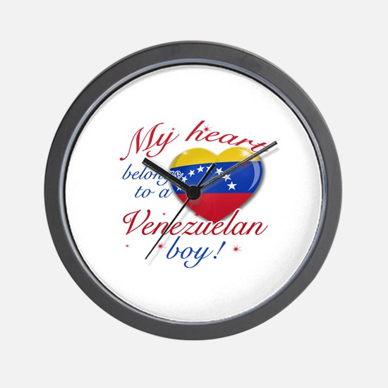 My heart belongs to a Venezuelan boy Wall Clock