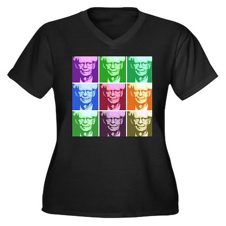 B.F. Skinner Women's Plus Size V-Neck Dark T-Shirt