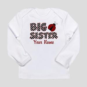 Big Sister Ladybug Long Sleeve Infant T-Shirt